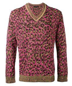 Marc Jacobs | V-Neck Leopard Sweatshirt Size Large