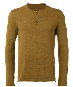 Transit | Buttoned Neck Jumper Small Cotton/Polyamide/Viscose