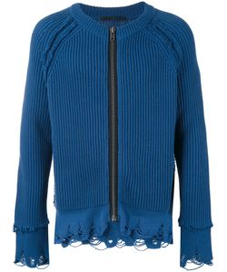 Haider Ackermann | Frayed Ribbed Zipped Cardigan