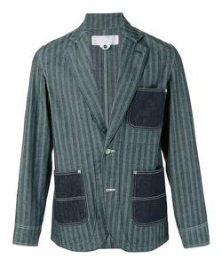 Ganryu Comme Des Garcons | Striped Denim Pocket Blazer Size Small