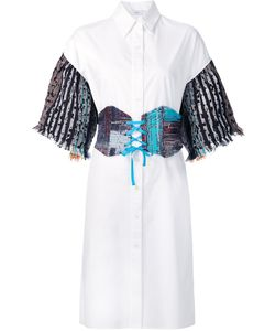 Tome | Tweed Sleeves Shirt Dress