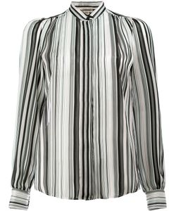 Giambattista Valli | Mandarin Neck Striped Shirt Size 42