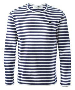 Comme Des Garçons Play   Longsleeved Striped T-Shirt Size Large