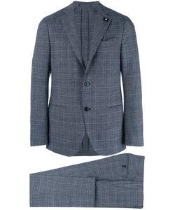 Lardini   Two-Piece Check Suit 48