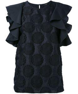 Roberto Collina | Ruffled Sleeves Dots Blouse Size Medium