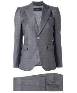 DSquared² | London Checked Three-Piece Suit 42 Wool/Polyester/Cotton