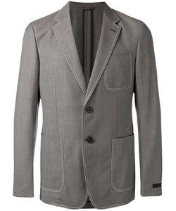 Prada | Contrast Stitch Blazer Size 48
