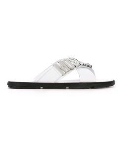 Moschino | Crossover Strap Slider Sandals