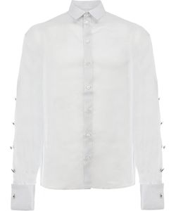 Y / Project | Pinstripe Embellished Sleeve Shirt