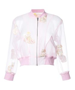 Mikio Sakabe   Embroidered Cat Cropped Jacket