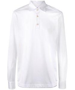 Kiton   Emroide Long Sleeve Polo Shirt Xl Cotton