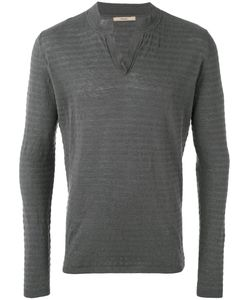 Nuur | Ribbed Open Neck Jumper Men