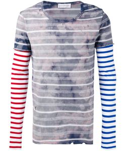 Faith Connexion | Stained Striped Destroyed T-Shirt Unisex