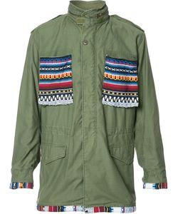 Htc Hollywood Trading Company | Aztec Details Cargo Jacket Large