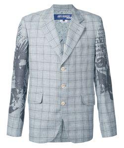 Junya Watanabe Comme Des Garçons | Man Printed Sleeve Check Blazer