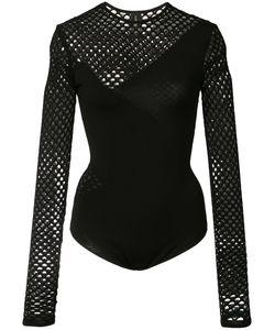 Alexandre Vauthier | Fishnet Long Sleeve Bodysuit