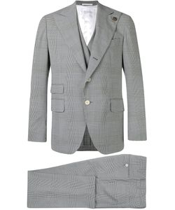 Gabriele Pasini | Embroidered Checked Suit Men