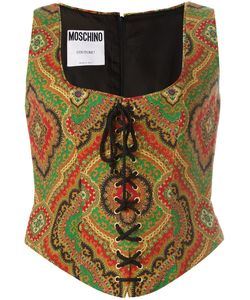 Moschino Vintage | Paisley Print Bustier 46