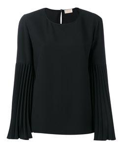 Sara Battaglia | Pleated Sleeve Blouse Size 44