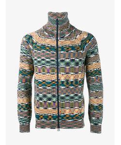 Missoni | Printed Zipped Cardigan Medium Cotton