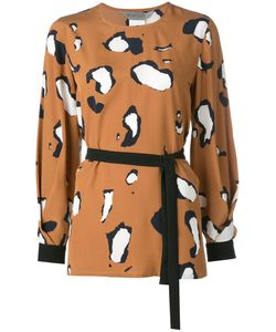 Sportmax | Printed Long Sleeve Blouse Size 44