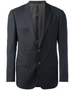 Armani Collezioni | Checked One Button Blazer Viscose/Virgin