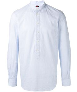 Mp Massimo Piombo | Pinstripe Collarless Shirt