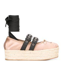 Miu Miu | Platform Buckled Espadrilles Size 38.5