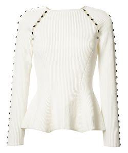 Carolina Herrera | Button Up Rib Knit Jumper Size Medium