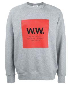 Wood Wood | Logo Print Sweatshirt Large Cotton