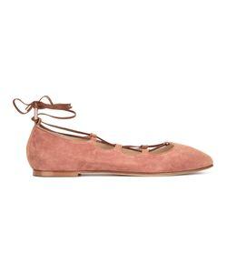 Anna Baiguera | Lace-Up Ballerina Flats Size 36