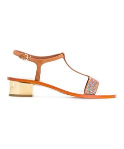 Salvatore Ferragamo | Mosaic Sandals 8.5 Calf Leather/Leather/Pvc