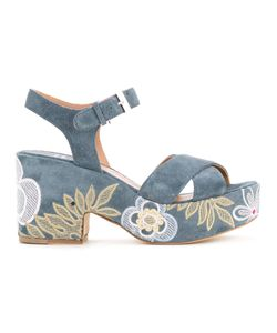 Laurence Dacade   Embroidered Denim Sandals