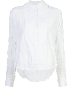 Derek Lam 10 Crosby | Creased Mandarin Collar Shirt Size Small