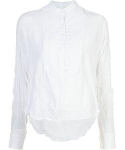 Derek Lam 10 Crosby   Creased Mandarin Collar Shirt Size Small