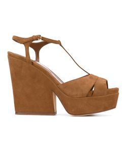 Sergio Rossi   T-Bar Wedged Sandals Size 37.5