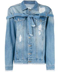 Steve J & Yoni P | Lace-Up Denim Jacket Women