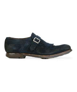 Church's | Distressed Brogue Detail Monk Shoes Calf