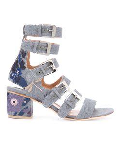 Laurence Dacade   Nora Denim Buckled Sandals Size 36.5