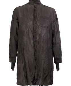 Yang Li | Strapped Cuffs Elongated Shirt Size 48 Cotton/