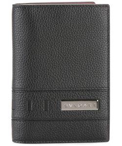 Bulgari | Plaque Bi-Fold Wallet Leather