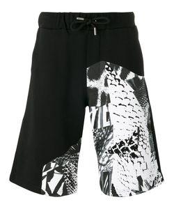 Les Hommes Urban | Multi-Print Shorts Size Small