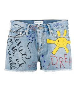 Mira Mikati | Doddle Print Denim Shorts Size 36