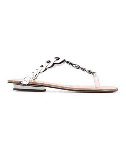 Robert Clergerie   Imani Flip Flops Size 38.5
