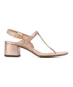 L'Autre Chose | Block Heel Thong Sandals Size 36 Leather/Emu