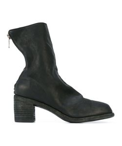 Guidi | Low Block Heel Ankle Boots Buffalo