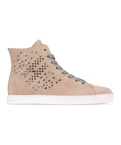 Hogan Rebel | Perforated Detail Hi-Tops Women