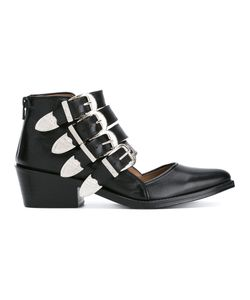 Toga Pulla   Buckle Strap Cut Out Ankle Boots Size 38