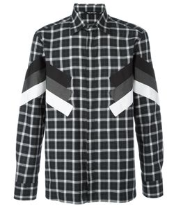 Neil Barrett | Modernist Long Sleeve Check Shirt Size 41