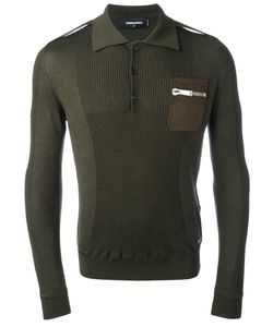 Dsquared2 | Long Sleeved Polo Shirt Size Medium